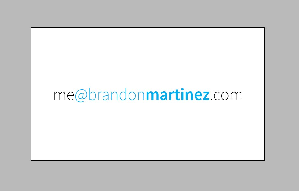 Designing My Personal Business Card | brandon martinez