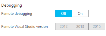 Disabled Remote Debugging After Setting it to VS 2013