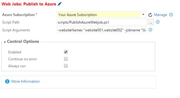 VSO Azure Web Job