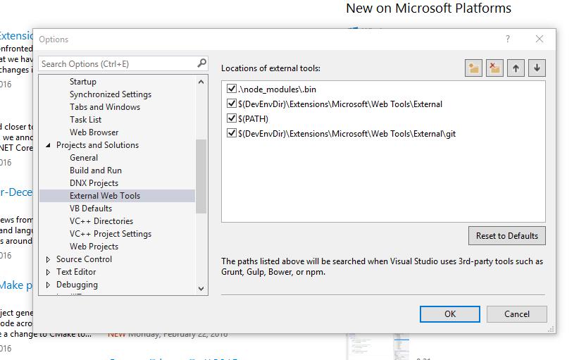 Visual Studio And Node Set Proper External Web Tools Path Order Brandon Martinez
